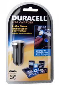 Автомобильное зарядное устройство Duracell с разьемом USB