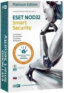 Eset NOD32 Smart Security Platinum Edition (на 1 ПК) Лицензия на 2 года (PC CD)
