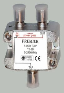 Делитель на 2 TV WAY (5-2400MHz) на гайках  3F гайки