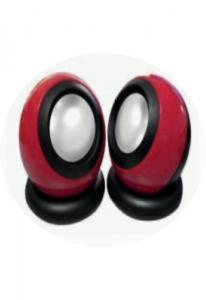 Колонки L-PRO E-016 / 1191,  2.0, красные, питание от USB