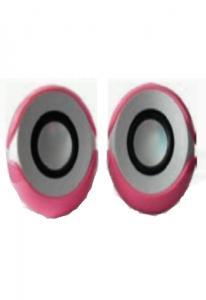 Колонки L-PRO E-018 / 1189,  2.0, бело-розовые, питание от USB