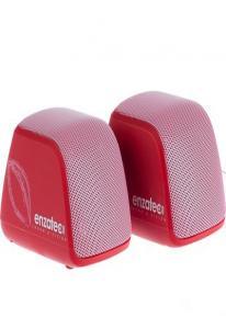 Колонки Enzatec SP308RE красные, портативные, 4W x 4W R.M.S, USB, аккум