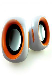 Колонки Enzatec SP313OG оранжевые, USB