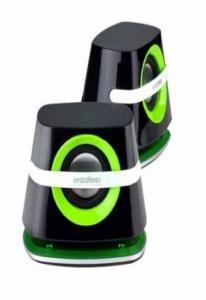 Колонки Enzatec SP610BK черные, портативные, 3Wx3W R.M.S, USB/3.5мм джек