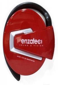 Наушники Enzatec EP201RE красные, клипсы, открытые, 20-20000Hz, шнур 1,3м, сумочка