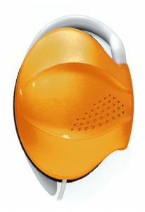 Наушники Enzatec EP202OG оранжевые, клипсы, открытые, 20-20000Hz, шнур 1,3м, сумочка