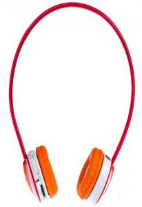 Плеер-наушники Enzatec FP111RE красный, micro-SD