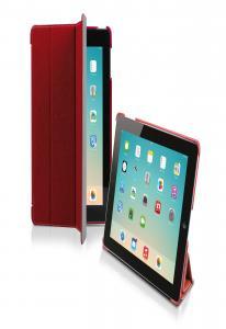 Чехол книжка Denim для iPad Air (складной фронт, красный / серый)
