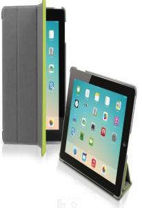 Чехол книжка Denim для iPad Air (складной фронт, серый / салатовый)