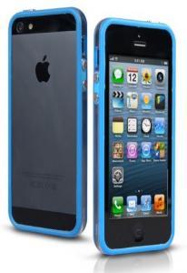 Бампер для iPhone 5 голубой