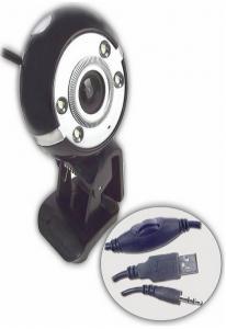 Вебкамера QbiQ PCM025, Magnetic 1,3МП ,микрофон,подсветка  USB
