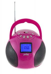 Perfeo мини-аудио BOOMBOX Bluetooth, FM, MP3 USB/SD, BassBooster, USB/800, малиновый (PF-BOOM210-PK)