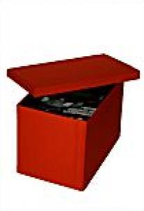 ! Картонная коробка обтянутая красной тканью - Подарочная упаковка для DVD/CD !